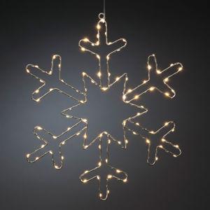 Konstmide CHRISTMAS LED dekorativní světlo stříbrná sněhová vločka
