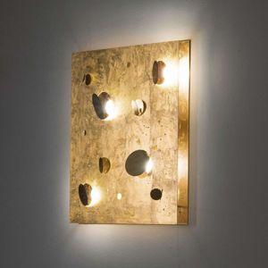 Knikerboker Knikerboker Buchi nástěnné světlo 60x60cm pozlátko