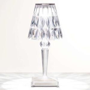 Kartell Kartell Battery - LED stolní lampa IP54, průhledná