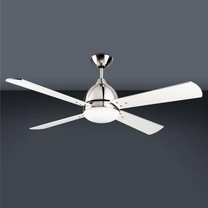 LEDS-C4 Borneo - moderní stropní ventilátor v niklu
