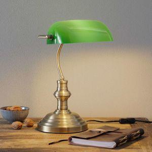 Markslöjd Stolní lampa Bankers výška 42 cm zelená
