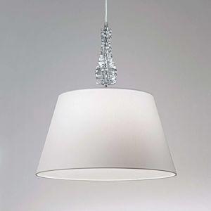 Lam Široké závěsné světlo Crystal bílé
