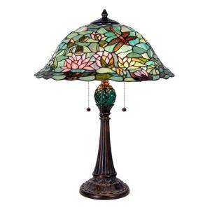 Clayre & Eef Okouzlující stolní lampa Waterlily v Tiffany stylu