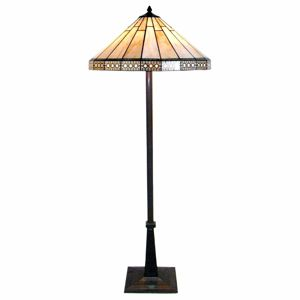 Clayre & Eef Podle Tiffany ztvárněná stojací lampa Bradley