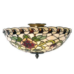 Clayre & Eef Rosalie - stropní světlo v Tiffany stylu