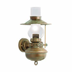 Moretti Nástěnné světlo Guadalupa vzhled olejové lampy