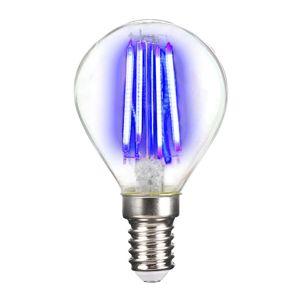 Megaman LED žárovka E14 4W Filament, modrá