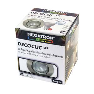 MEGATRON LED spot Decoclic Set s GU10 6 W, železo