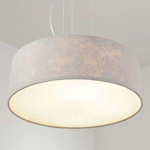 Lucande Závěsné světlo Gala, 50cm, plstěné stínidlo, šedé
