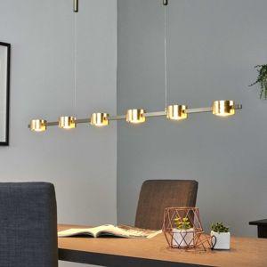 Lucande Zlaté – LED závěsné světlo Niro, stmívatelné