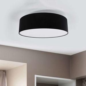 Lucande Stropní světlo Gala 60 cm chintzové černá