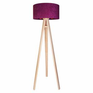 Maco Design Sametová stojací lampa Savanna s vnitřním potiskem