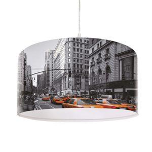 Maco Design Moderní závěsné světlo City s fototiskem