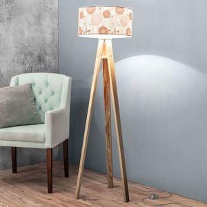 Maco Design Stojací lampa Mariella s potištěným stínidlem