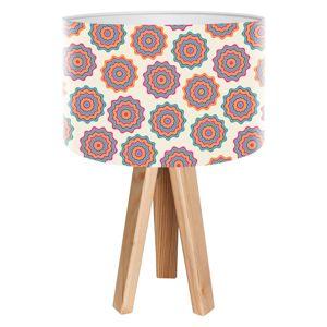 Maco Design Retro stolní lampa Sylke s potištěným stínidlem