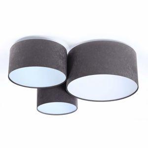 Maco Design Stropní světlo 080, třízdrojové, tmavě šedá-bílá