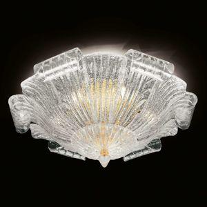 Novaresi Stropní světlo sklo Murano Tartaruga, 80 cm