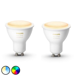 Philips HUE Philips Hue White Ambiance 5 W GU10 LED, 2 ks