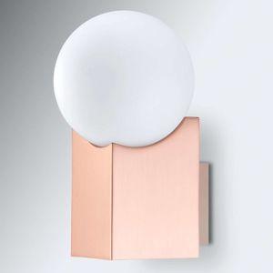 Pujol Nástěnné světlo Cub měď