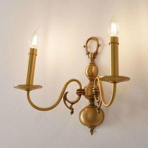 RIPERLamP HOLANDESAS dvouzdrojové nástěnné světlo zlato mat