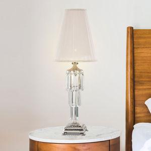RIPERLamP Stolní lampa Sevilla s křišťály, nikl lesklý