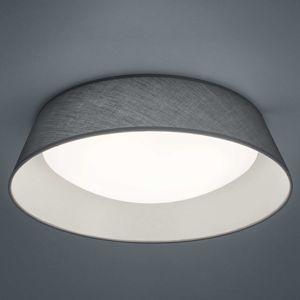 Reality Leuchten Textilní LED stropní svítidlo Ponts šedé, Ø 45 cm