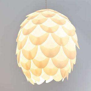 Lampenwelt.com Závěsné svítidlo Marees vbílém provedení, Ø 50 cm