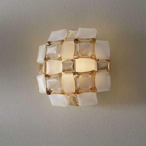 Slamp Slamp Mida nástěnné světlo, 32x32 cm, zlatá/bílá