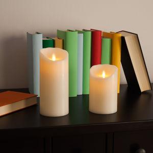 Sompex LED svíčka Flame z pravého vosku 12,5 cm