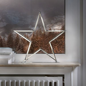 Sompex Dekorativní světelná hvězda Lucy chrom výška 50 cm