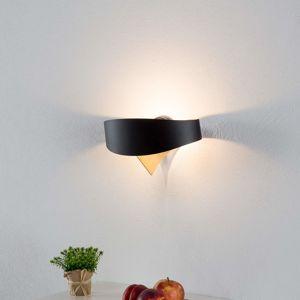 Selene Černozlaté designové nástěnné světlo Scudo LED