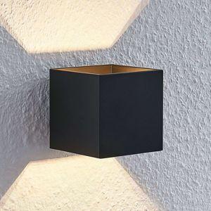 Lindby Lindby Mirza nástěnné světlo, hranaté, černé