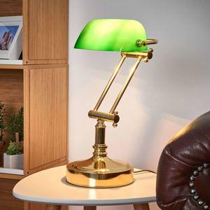 SEA-Club Bankéřská lampa Steve zelené skleněné stínidlo