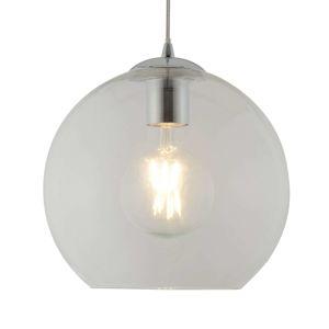 Searchlight Kulovitá skleněná závěsná lampa Balls, 25 cm, čirá