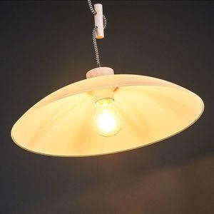 Spot-Light Závěsné světlo Jona, dub bílý, kabel černobílý