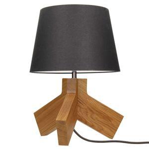 Spot-Light Dřevěná stolní lampa Tilda stínidlo antracit