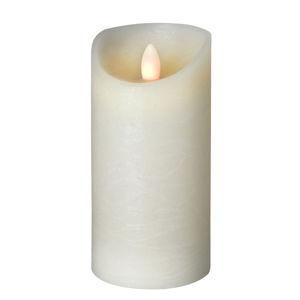 Sompex LED svíčka Shine Ø 7,5 cm slonovina, výška 17,5 cm