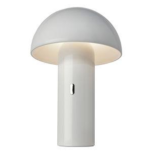 Sompex LED stolní lampa Svamp s baterií, otočná, bílá