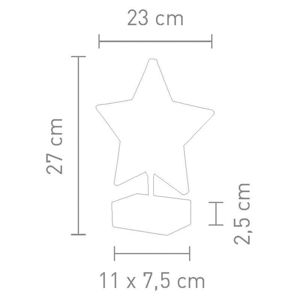 Sompex Stolní lampa Stella tvar hvězdy 27 cm, kouřová