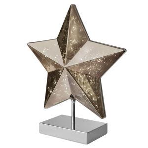 Sompex Stolní lampa Stella tvar hvězdy 34 cm, kouřová