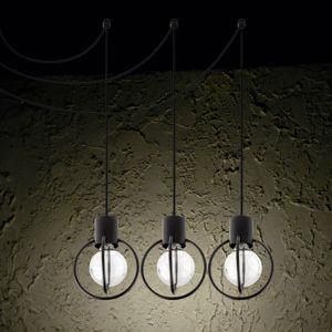 SIGMA LED závěsné světlo Aura 3, 3 zdroje, černá