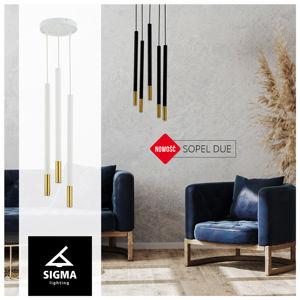SIGMA Sopel Due 5 závěsné světlo, černá/zlatá, 5 zdrojů