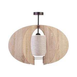 SIGMA Stropní světlo Modern C M dřevěné lamely Ø 50 cm