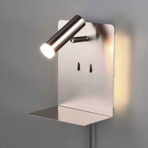 Trio Lighting Nástěnné LED světlo Element s policí matný nikl