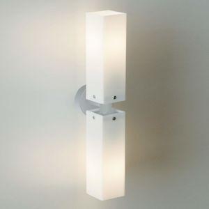 Top Light Dvojité nástěnné světlo CUBE TWIN, nikl matný