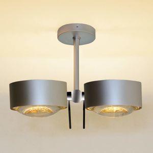 Top Light 2zdr stropní světlo PUK SIDES, chrom matný, 10 cm