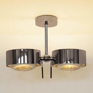 Top Light 2zdr stropní světlo PUK SIDES, chrom, 10 cm