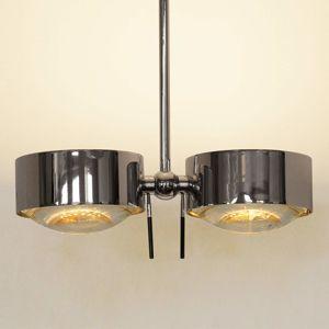 Top Light 2zdr stropní světlo PUK SIDES, chrom, 30 cm