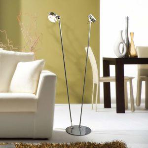 Top Light Flexibilní stojací lampa PUK FLOOR, chrom matný