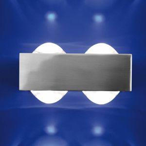 Top Light 4 čočky: nástěnné světlo Focus 150, nikl